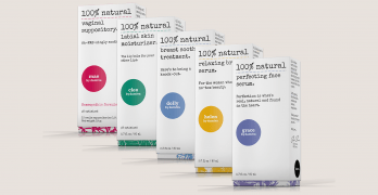 Boxes of Damiva products that will help you take care of your body during hormone fluctuations.